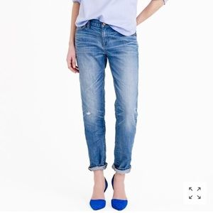 J.CREW Slim Broken in Boyfriend Jeans.